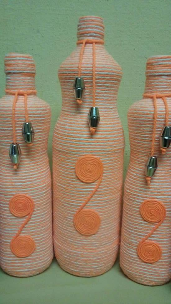 Ideias para garrafas decoradas
