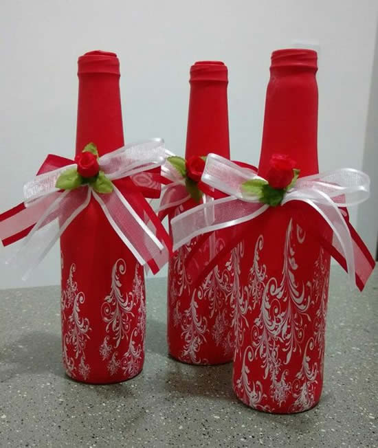 Decoração criativa para garrafas