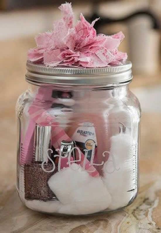 Lembrancinhas perfeitas com potes de vidro