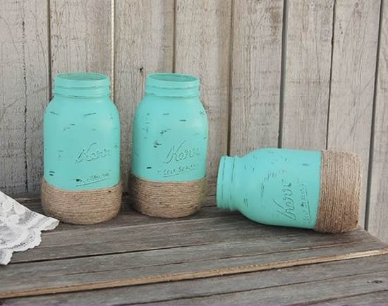 Reciclagem de potes de vidro