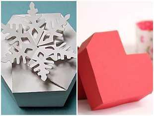 Caixinha linda de papel para Natal