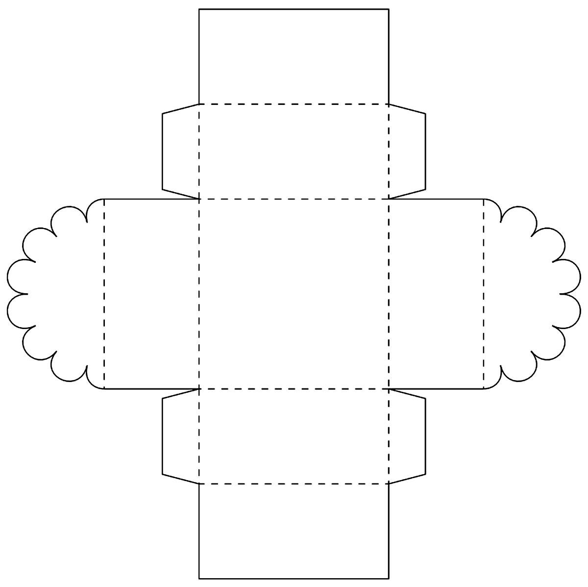 Molde para criar caixinha de papel para lembrancinha