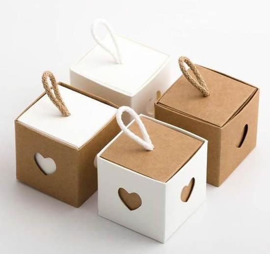Caixinha criativa de papel com moldes