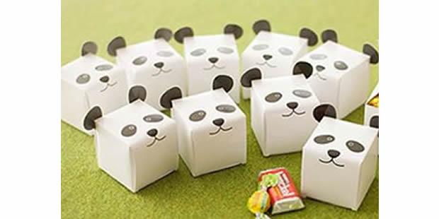 Caixinha panda com moldes