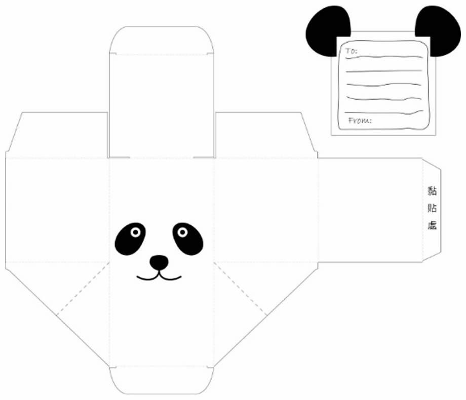 Molde para lembrancinha de festa panda