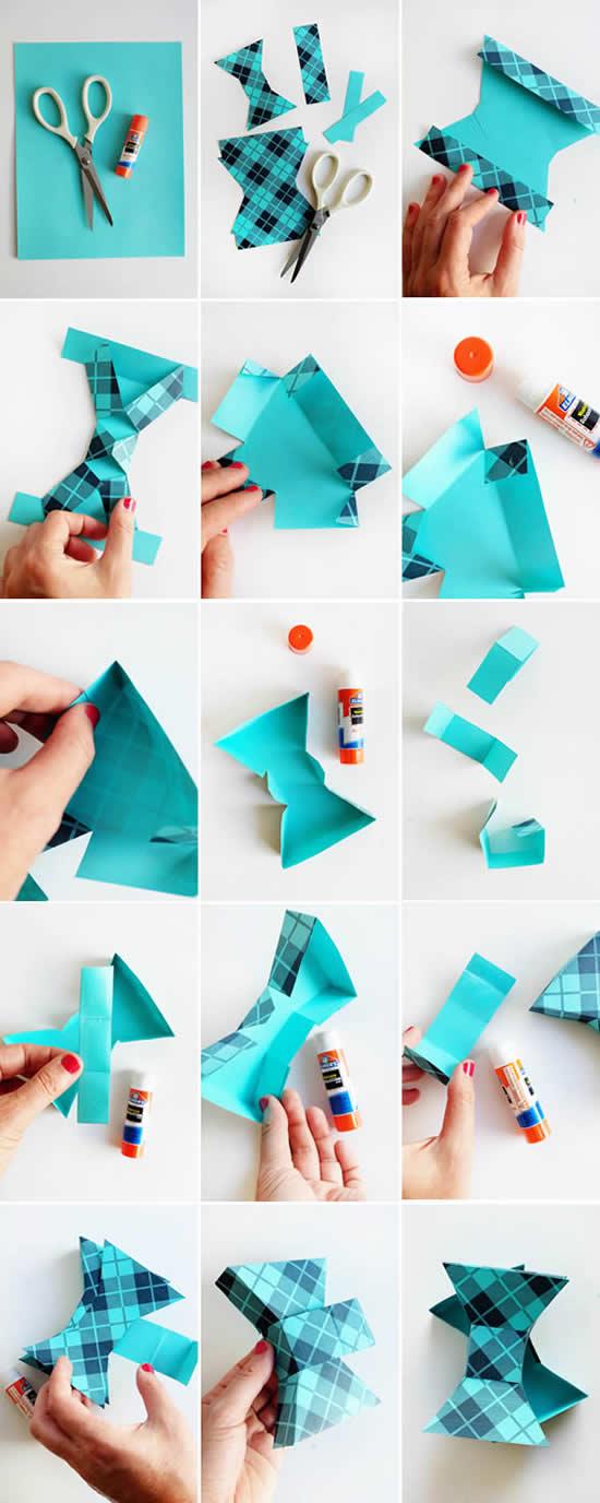 Linda caixinha de papel para Dia dos Pais