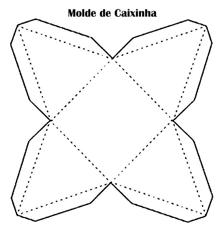 Molde para caixinha pirâmide de papel