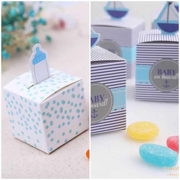 Lindas caixinhas de papel com moldes