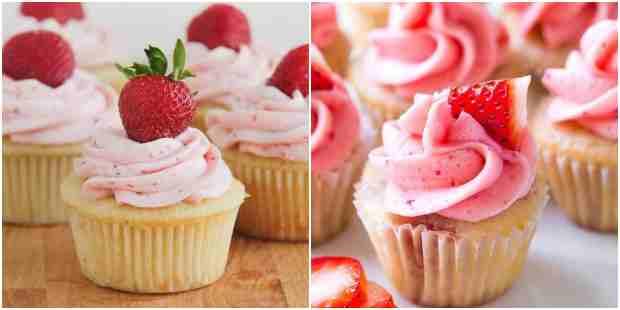 Cupcakes de morango para inspiração