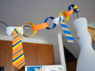 Guirlanda de gravatas de papel