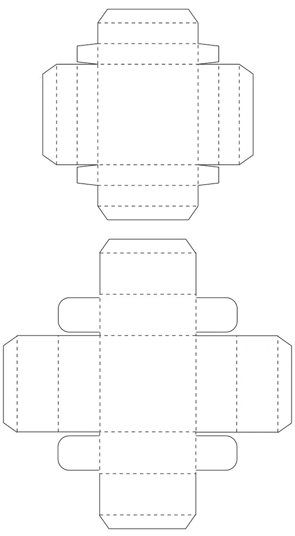 Moldes para lembrancinha de papel