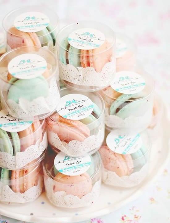Lembrancinhas com macarons
