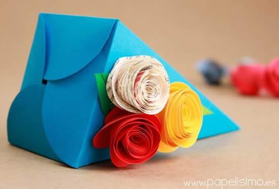 Lembrancinha com molde em papel