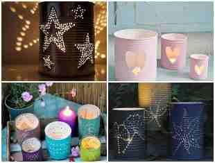 15 ideias lindas de luminárias com latas de leite