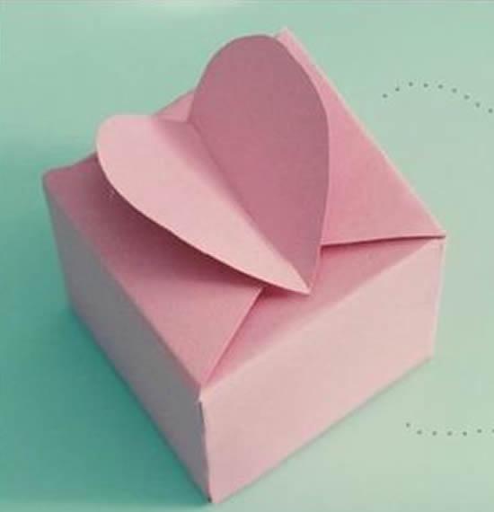 Caixinha coração com molde