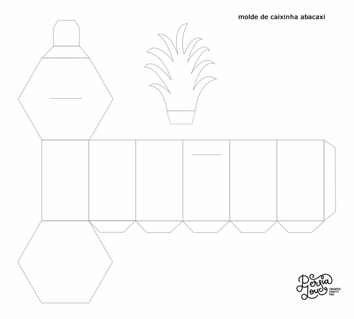 Molde de caixinha abacaxi