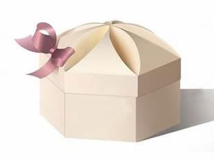 Molde de caixa para lembrancinha com tampa