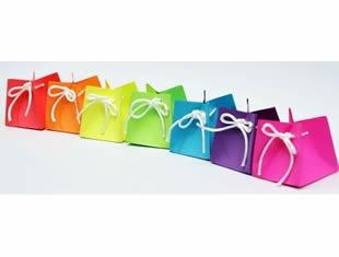 Lindas caixinhas coloridas com molde