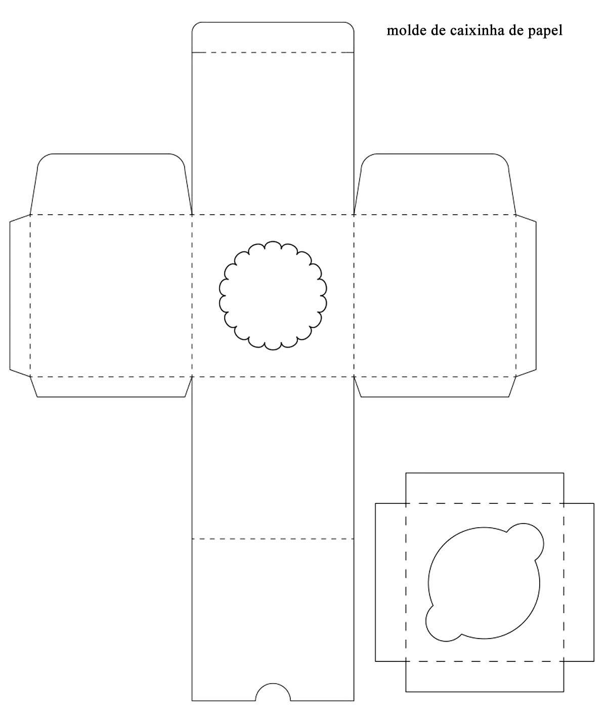 Caixa de papel para cupcake com moldes