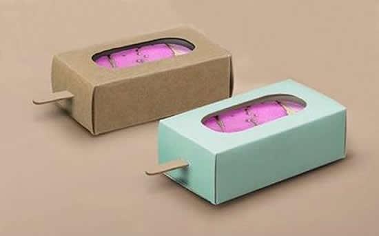 Molde de caixa de papel para lembrancinha de festa