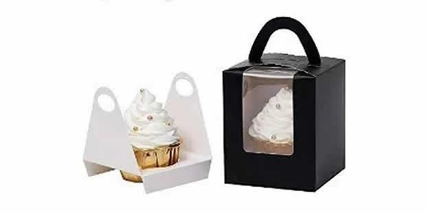 Caixinha de papel para cupcake com molde