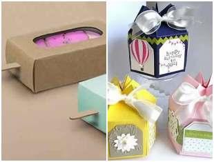 Caixas de papel com moldes