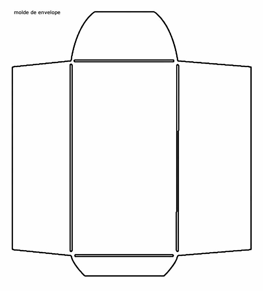 Molde de envelope de papel