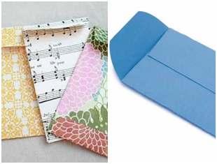 Envelopes de papel com molde para imprimir
