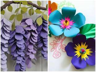 Flores de papel para enfeitar festas
