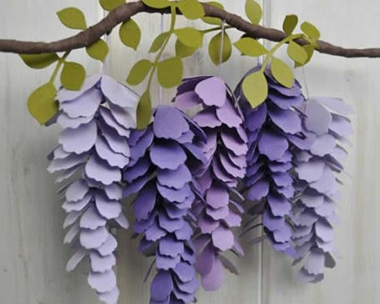 Lindas flores de papel passo a passo