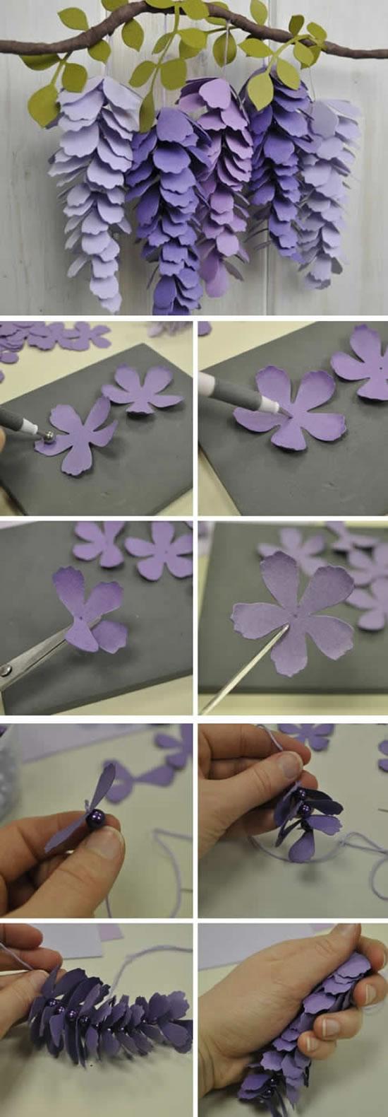 Passo a passo de flores de papel