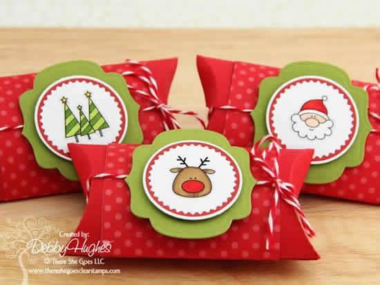 Lindas lembrancinhas de Natal com rolos de papelão