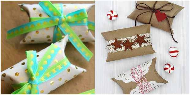 Lembrancinha de Natal com rolos de papelão