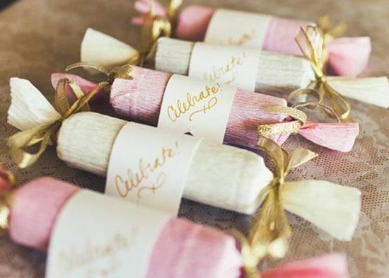 Lembrancinhas de Natal com rolos de papelão