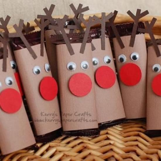 Lembrancinhas de Natal com rolos de papel