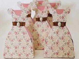 Lembrancinha de papel para casamento com molde