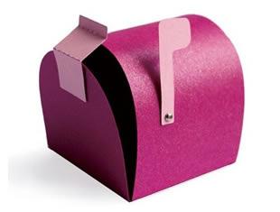 Caixinha de correios com molde