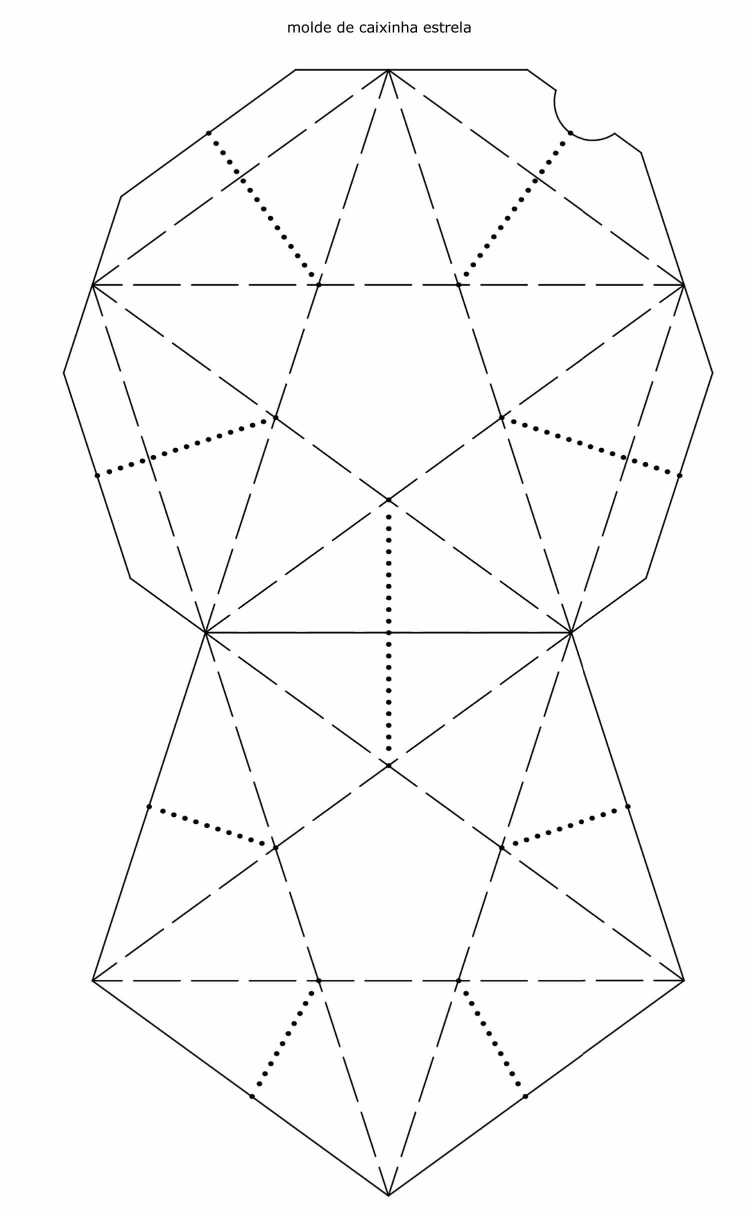 Molde para caixinha estrela