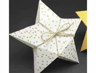Caixinha estrela de papel com moldes