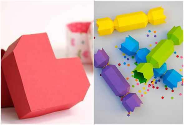 Caixinhas para Dia das Crianças com moldes