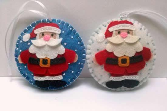 Papai Noel em tecido de feltro