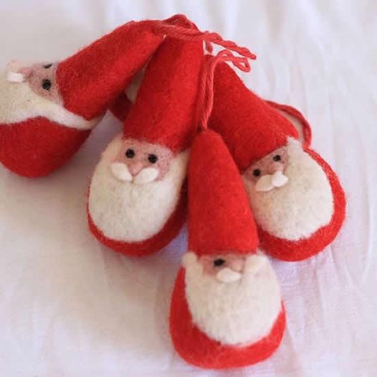 Chaveiro com Papai Noel de feltro