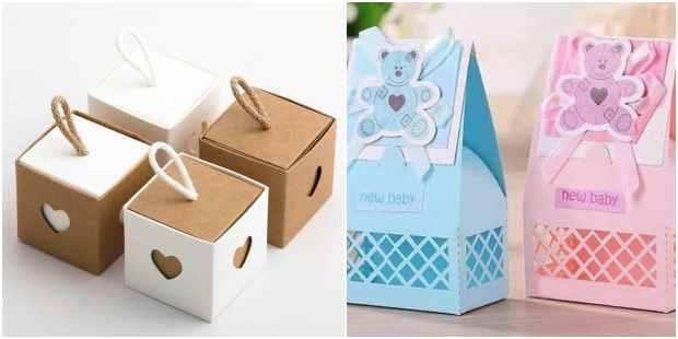Lindas caixinhas com moldes para o Dia das Crianças