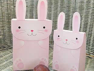 Molde de sacola de coelhinho para imprimir
