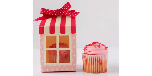 Caixinha casinha para cupcake com moldes