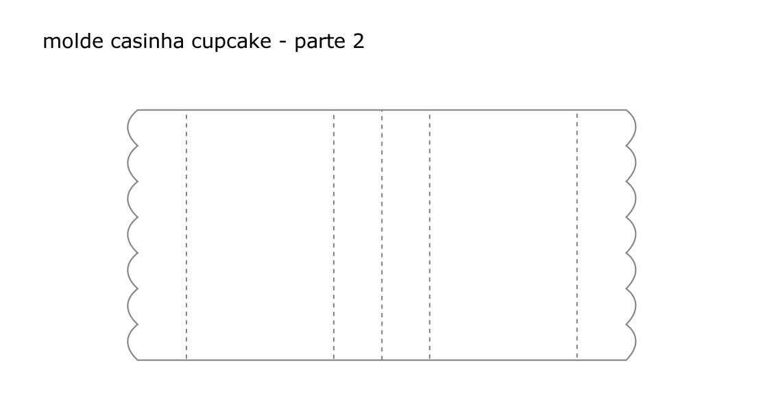 Molde para caixinha casinha de cupcake