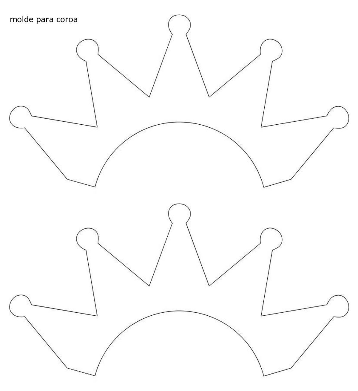 Molde para coroa de princesa