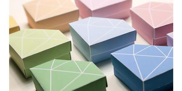Linda caixinha de papel com moldes