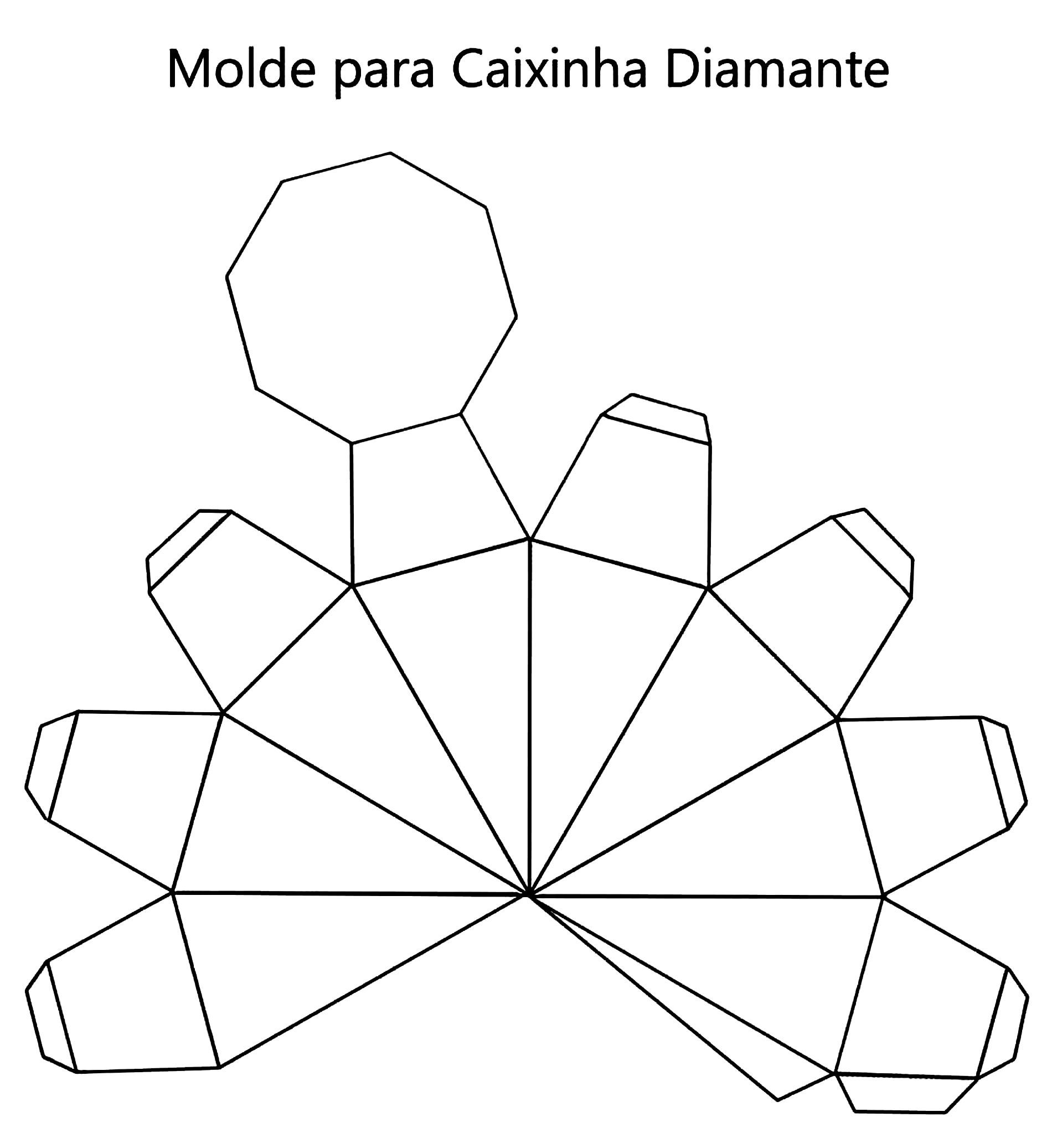Molde para caixinha diamante