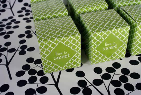 Lindas caixinhas de papel com molde
